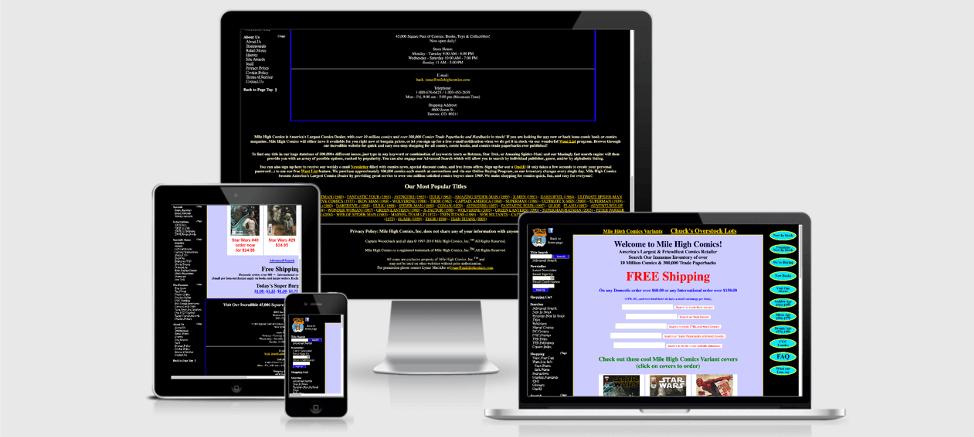 non responsive web site example
